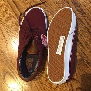 2d5a1329405653 Vans Shoes - NWT Vans burgundy canvas shoes — M 7   W 8.5